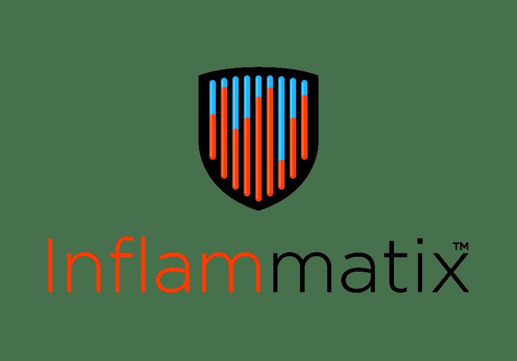 Inflammatix logo blue and orange shield over the word Inflammatix